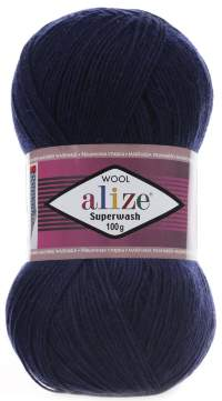 Superwash Wool (Alize) 58 т.синий, пряжа 100г