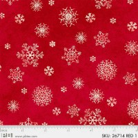 26714 RED1 Winter`s friends ткань для пэчворка 50х55 см