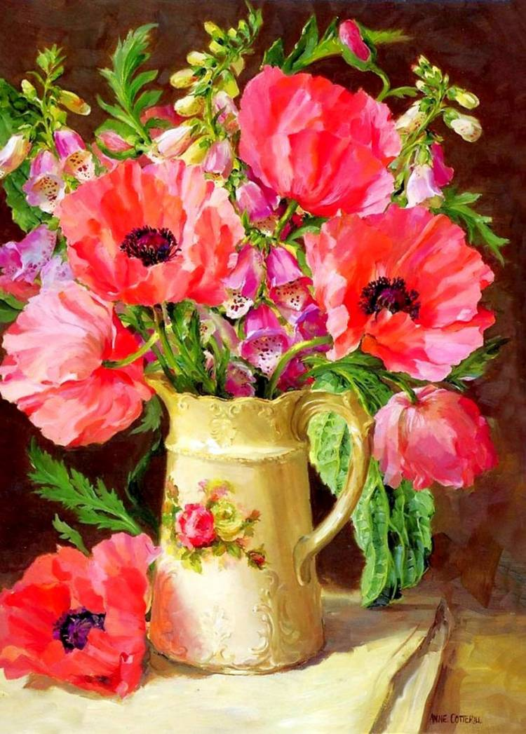 живопись картинки натюрморт цветы момент съемки